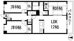 センチュリーコート宝塚[2階]の間取り