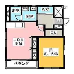 クレール車道II[2階]の間取り