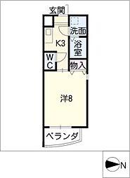 S−FLAT[4階]の間取り