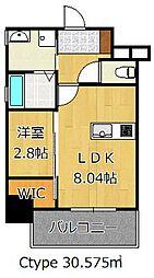 THE HILLS KOKURA[4階]の間取り