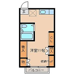 三重県鈴鹿市庄野町の賃貸アパートの間取り