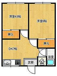 若葉荘[2階]の間取り