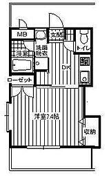 サンハウス羽犬塚[1階]の間取り