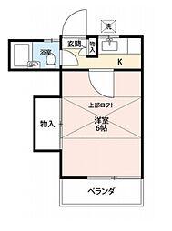 テラスA&B[2階]の間取り