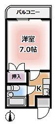 京都府京都市伏見区豊後橋町の賃貸マンションの間取り