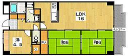 ノースビレッジII[2階]の間取り