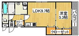 クリエオーレ太子田[2階]の間取り