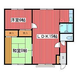 マンション竹田[1階]の間取り