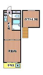 アンダルシア 旭ヶ丘[1階]の間取り