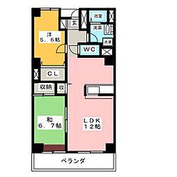 ル・ボア平喜[3階]の間取り