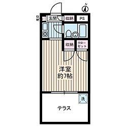 ブライトコート壱番館[1階]の間取り