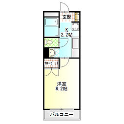 神奈川県小田原市中町3丁目の賃貸マンションの間取り