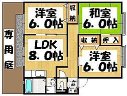 福岡県春日市昇町6丁目の賃貸アパートの間取り