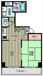 ドミールカネコ[1階]の間取り