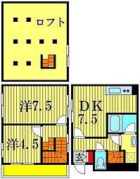 [一戸建] 東京都足立区足立2丁目 の賃貸【/】の間取り