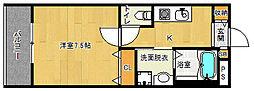 京都府京都市伏見区深草野田町の賃貸アパートの間取り
