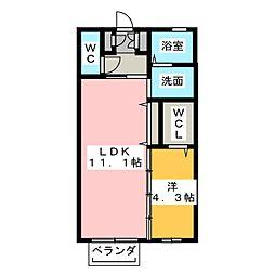 ブランエール K棟[1階]の間取り