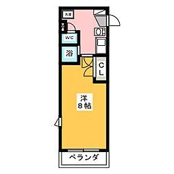 グランディール西焼津[2階]の間取り