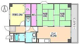 エクセル中央 801[8階]の間取り