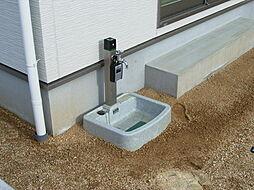 お庭に立水栓付...