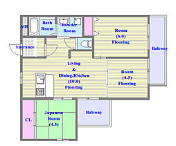 HAZY HILL[2階]の間取り