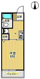 フローラ箕面[1階]の間取り