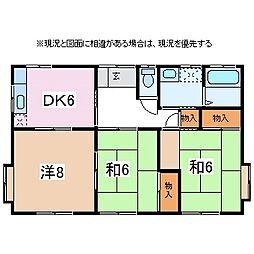 [一戸建] 長野県松本市寿北1丁目 の賃貸【/】の間取り