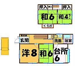 [一戸建] 千葉県柏市高柳 の賃貸【/】の間取り