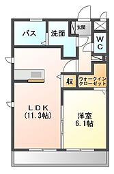 ラベンダー[3階]の間取り