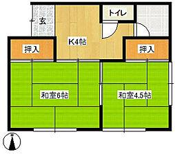 弥生荘[2-1号室]の間取り