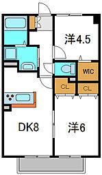 大阪府門真市一番町の賃貸アパートの間取り