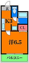 大阪モノレール 大日駅 徒歩11分の賃貸マンション 4階1Kの間取り