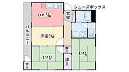 コーポYUTAKA[202号室]の間取り