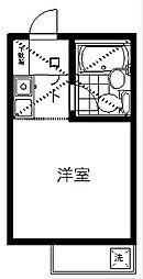 東京都世田谷区用賀4丁目の賃貸アパートの間取り