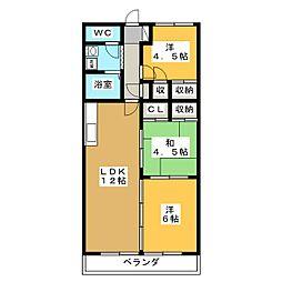 クレストンマンションSI[3階]の間取り