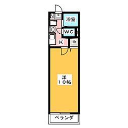 レトア花池II[2階]の間取り