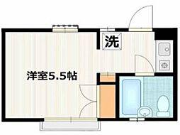 ルーブル子安[1階]の間取り
