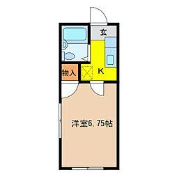 シャトレーゼ三輪[1階]の間取り
