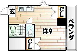 K−2西小倉ビル[8階]の間取り