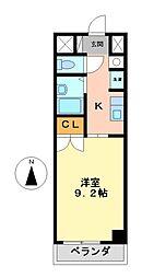 エトワール烏森[1階]の間取り