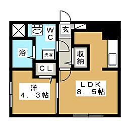 TAKARA EAST HILLS[2階]の間取り