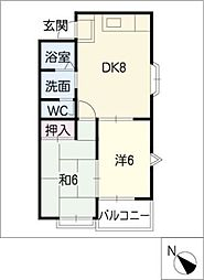 62・Oハウス[2階]の間取り