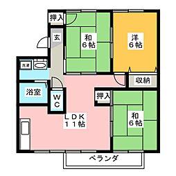 シャトル平福 B棟[2階]の間取り