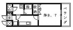 ルミナス松山[102号室号室]の間取り