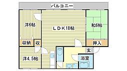 アルテハイム姫路[203号室]の間取り