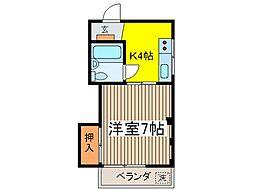 東京都府中市府中町1丁目の賃貸マンションの間取り