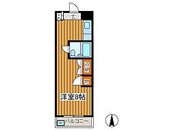 市村第二マンション[1階]の間取り