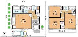 [一戸建] 千葉県柏市中原2丁目 の賃貸【/】の間取り