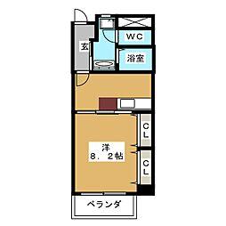 駒・コネクション21[4階]の間取り