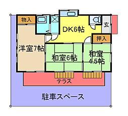 [一戸建] 千葉県市原市飯沼 の賃貸【/】の間取り